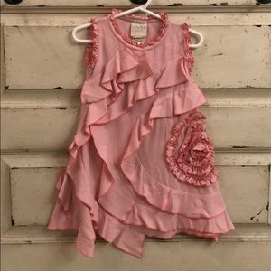 Lemon loves lime pink ruffle swirl dress